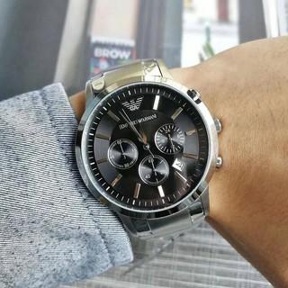 新款Armani 阿曼尼 男錶 三眼日曆鋼帶 男士手錶休閒 石英錶大錶盤 AR24342797721057 桃園市