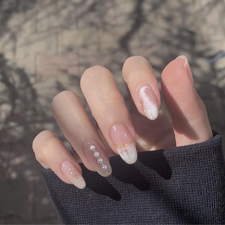 美甲貼片 穿戴式甲片假指甲 長短款可拆卸 網紅抖音成品新娘 學生孕婦美甲貼片