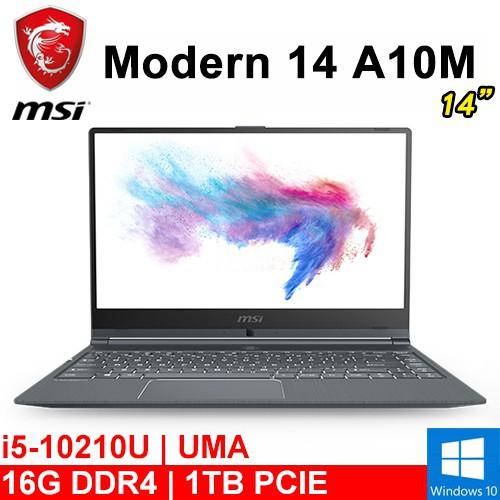 "微星 Modern 14 A10M-830TW 14""(i5-10210U/16G DDR4/1TB PCIE)"