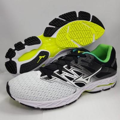 美津濃 MIZUNO 男慢跑鞋 WAVE SHADOW 2 J1GC183016 白/黑/綠