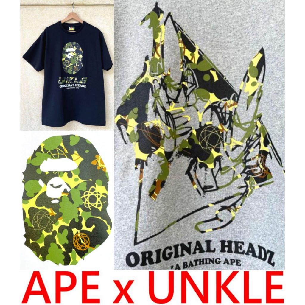 BLACK全新APE x FUTURA x UNKLE原子球BAPE猿人頭FL倫敦展店紀念短T