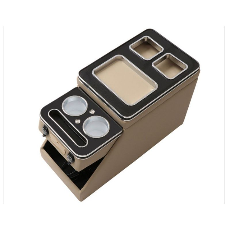 柚子3C代購-QRV專用全新中央滑蓋扶手箱-前後置杯架USB