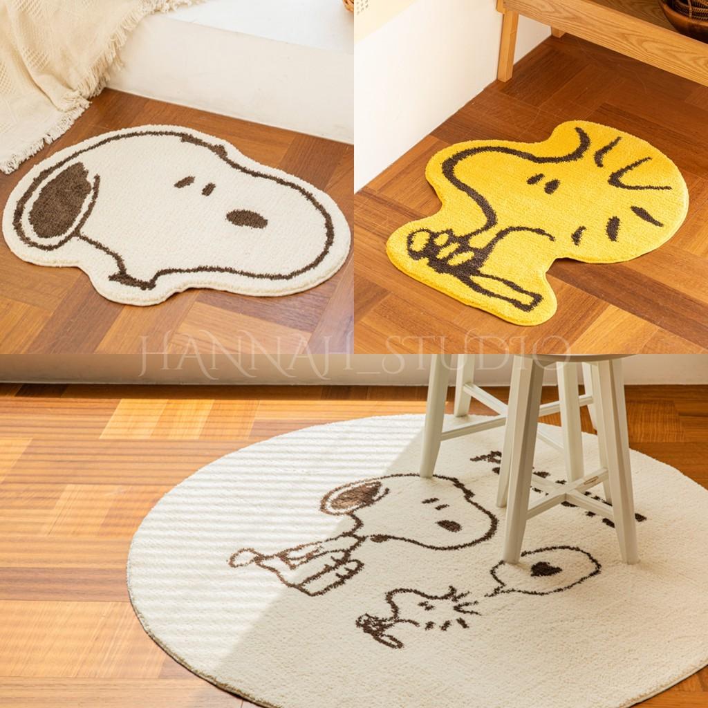 【漢娜代購】✨現貨✨韓國 10X10 史努比 糊塗塌客 地毯 地墊 SNOOPY 胡士托 Woodstock