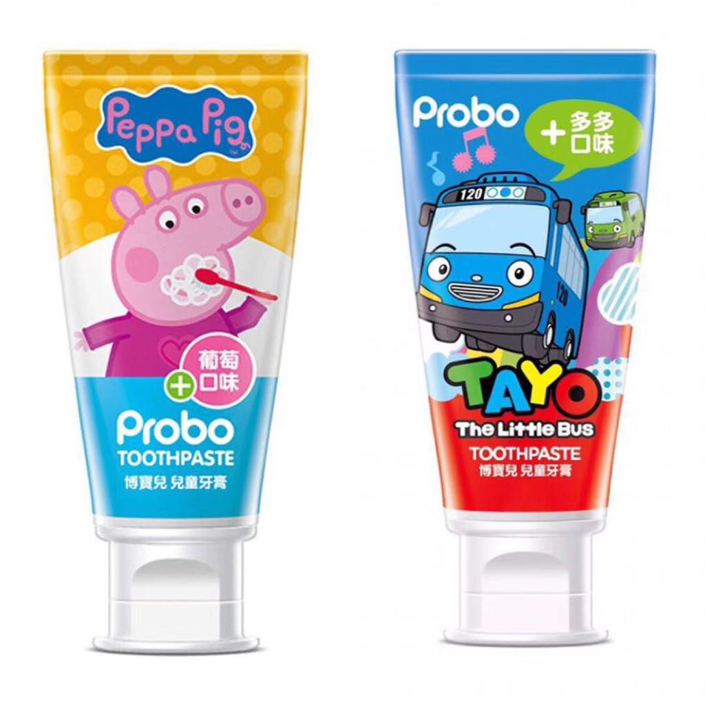 Probo博寶兒 佩佩豬 小巴士 兒童牙膏 80g (葡萄/多多)