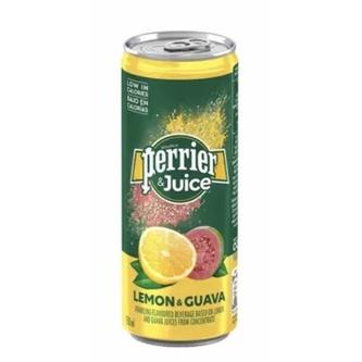 (好市多直送免運)Perrier 沛綠雅 氣泡綜合果汁 檸檬芭樂口味 250毫升 X 24入