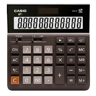 ┇✑☁正品Casio卡西歐MH/ DH-12超寬計算器12位數太陽能大號商務辦公時尚可愛電子計算機財務DH12 MH12白 臺中市