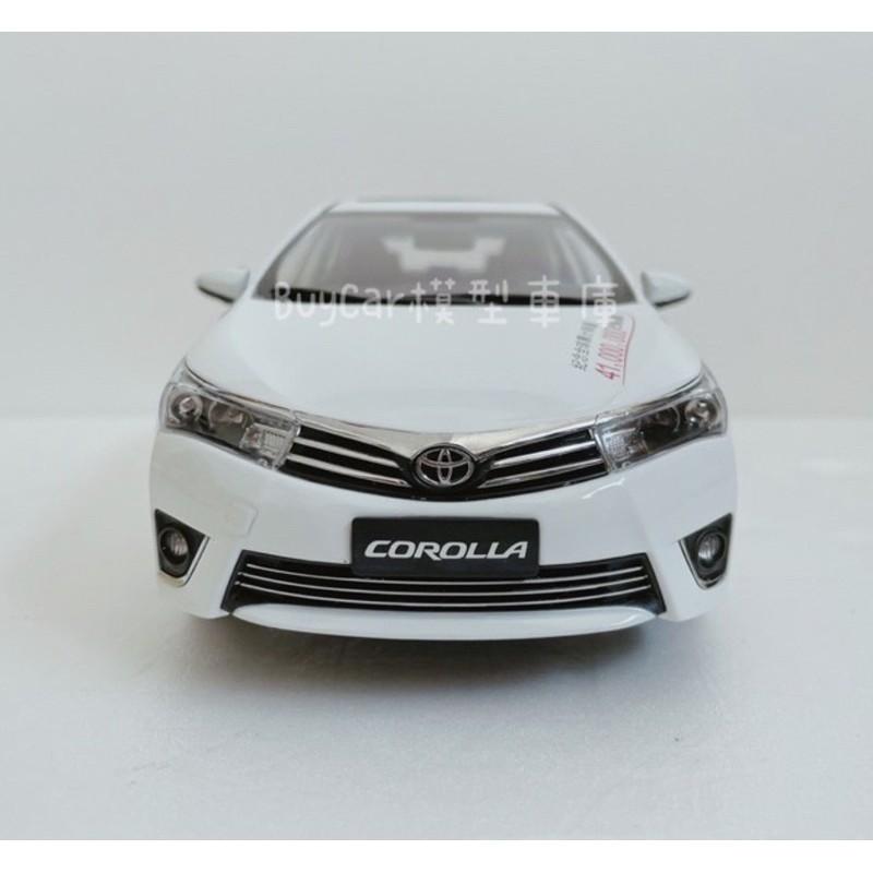 BuyCar模型車庫 1:18 Toyota Altis 11代模型車白色 購買即送客製化車牌一對 可自選車牌號碼