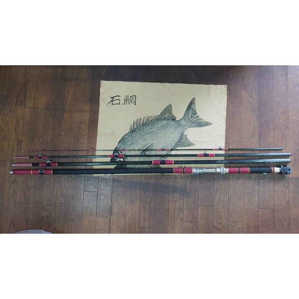 【比比昂.GAMAKATSU】石鯛竿ジャンクがま石シルバー18号5,4米 魚拓は付きません