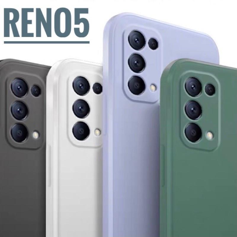 直邊液態軟殼 適用於OPPO Reno4 Reno5 pro 手機殼 A53 A73 A74 5G 鏡頭全包防摔保護殼