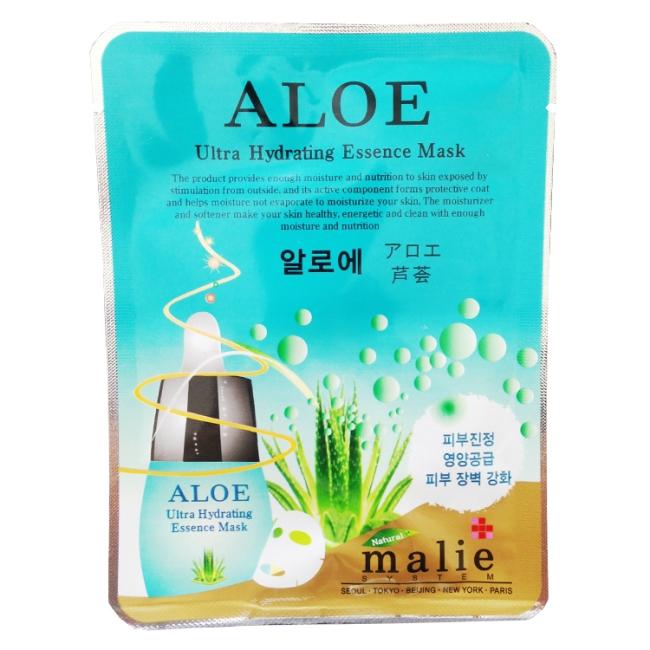 malie 蘆薈彈性保濕面膜10入-蘆薈 20ml