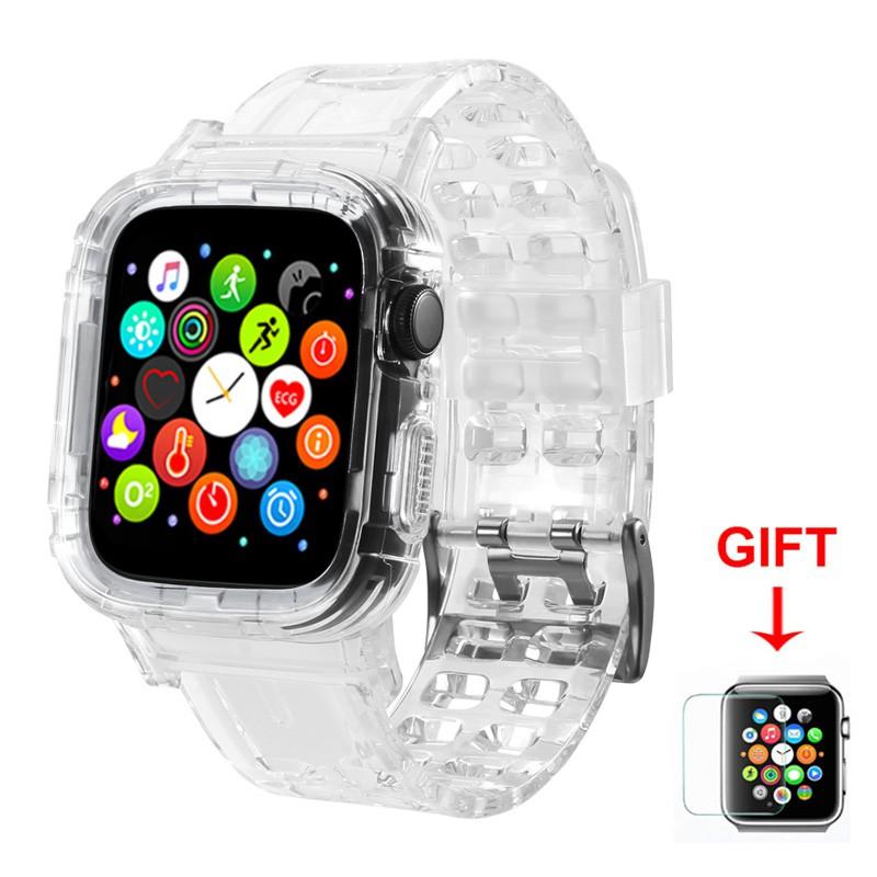 適用於 Apple Watch Series 6 / Se / 5 / 4 / 3 / 2 / 1 矽膠透明橡膠錶殼透明