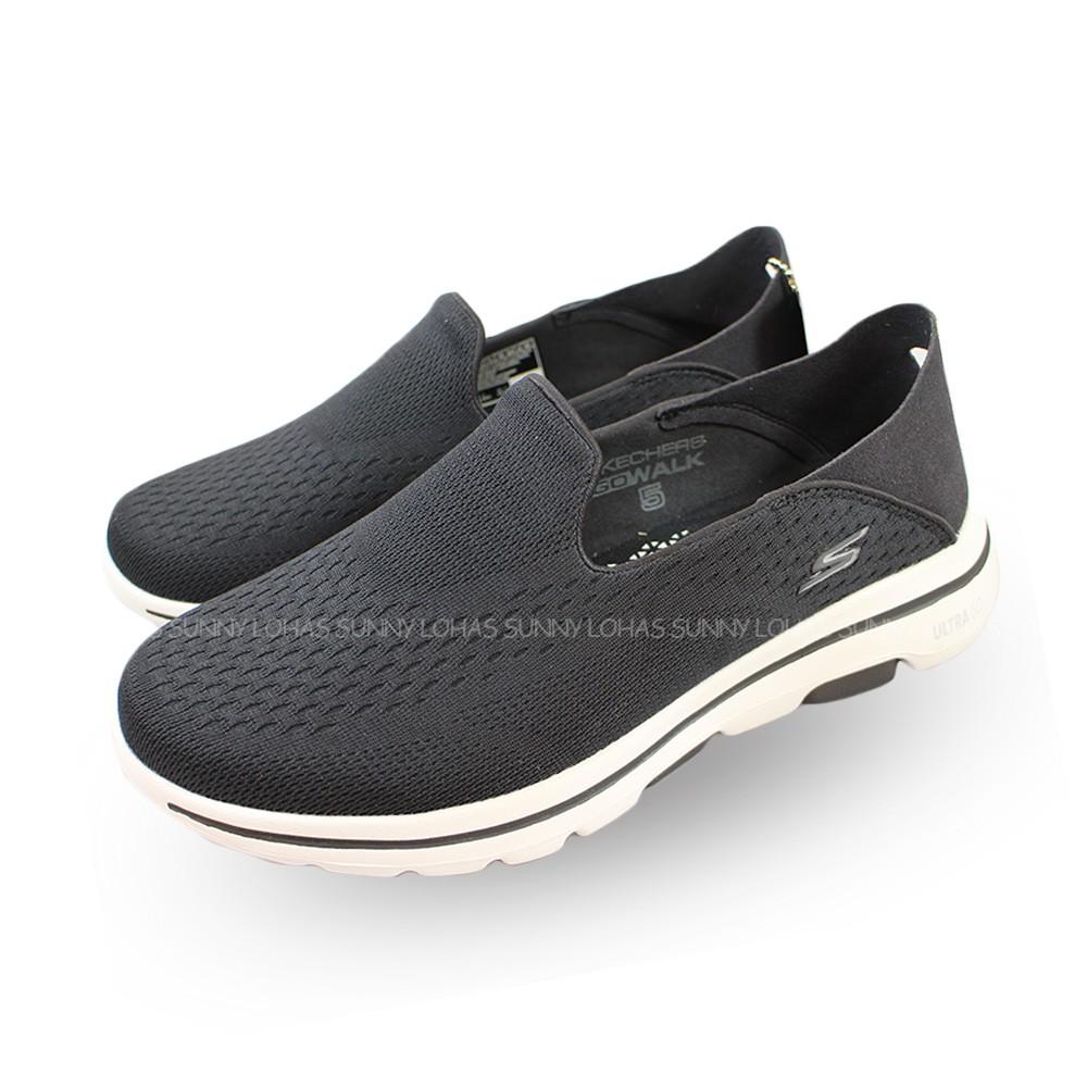 (B1) SKECHERS 休閒鞋 Go Walk 5-Jetter 男健走鞋 懶人鞋 55523BKW 黑 [SUN]