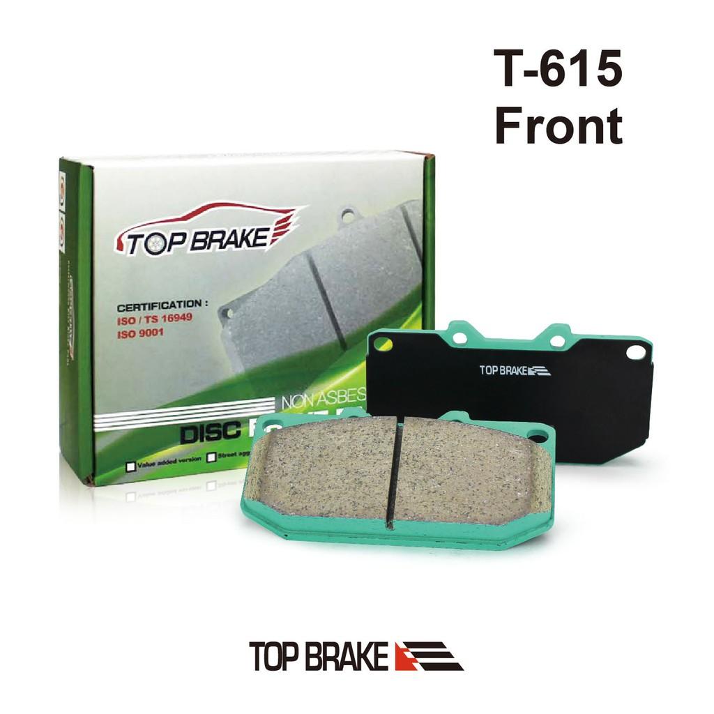 TOPBRAKE 速霸陸SUBARU IMPREZA四活塞 汽車前碟煞車來令片-特約店免安裝費 T-615