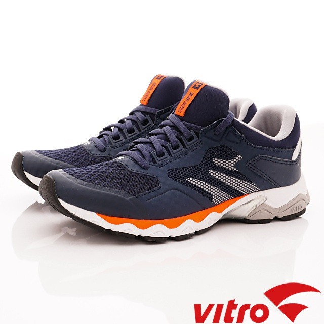 韓國VITRO專業運動-Walking-EZ LIGHT-頂級專業慢跑鞋-海軍藍(男女)
