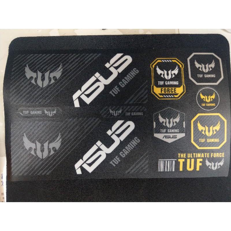 ASUS 華碩 ROG TUF GAMING 電競 主機板 機殼 電供 顯示卡 電競 個性化 貼紙 買就送TUF 束帶