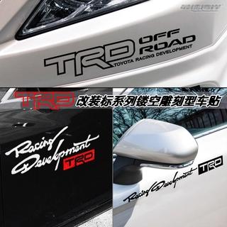 陸巡86車貼改裝廠TRD鏤空字母標誌貼紙霸道車貼車窗玻璃貼紙