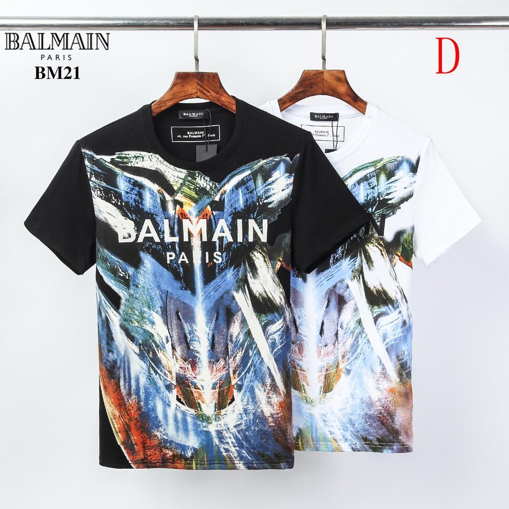 ㊋ 2020第一波巴爾曼T恤 男短T 夏季短袖T恤 BALMAIN短袖 時尚休閒上衣男士短袖 男生短