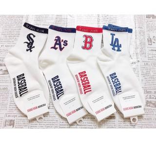 正韓襪 LOGO 大聯盟 球隊襪  棒球襪  文字襪 棒球球隊襪  襪子  多顏色 潮襪 洋基隊  街頭風 桃園市