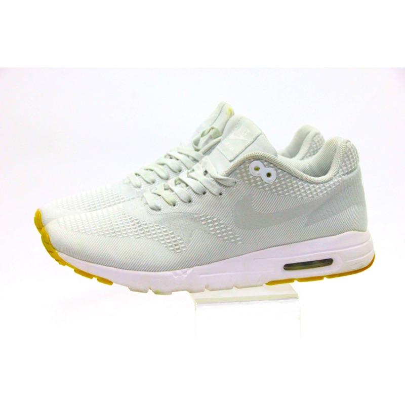 二手 女鞋 23.5cm 淺灰 Nike WMNS Air Max 1 Ultra Jacquard 編織網布 is