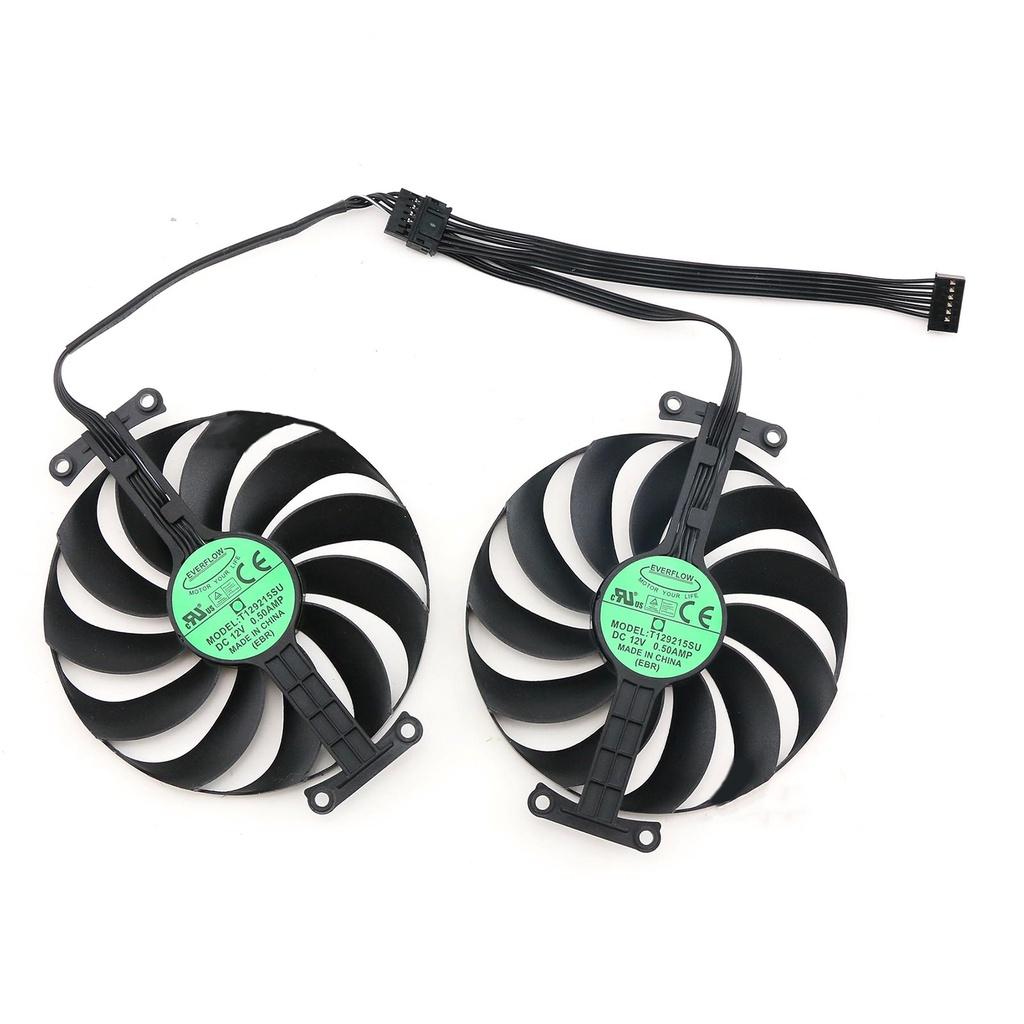 適用於ASUS華碩RTX3060巨齒鯊 RTX3070 3060ti LHR DUAL OC V2顯卡冷卻風扇