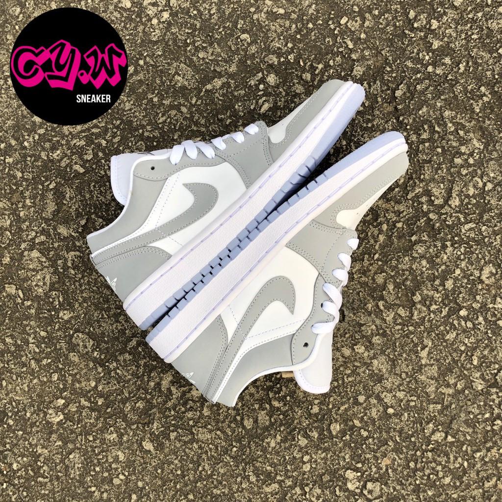 Air Jordan 1 Low 灰白 煙灰 小Dior AJ1 女款 休閒鞋 滑板鞋 DC0774-105