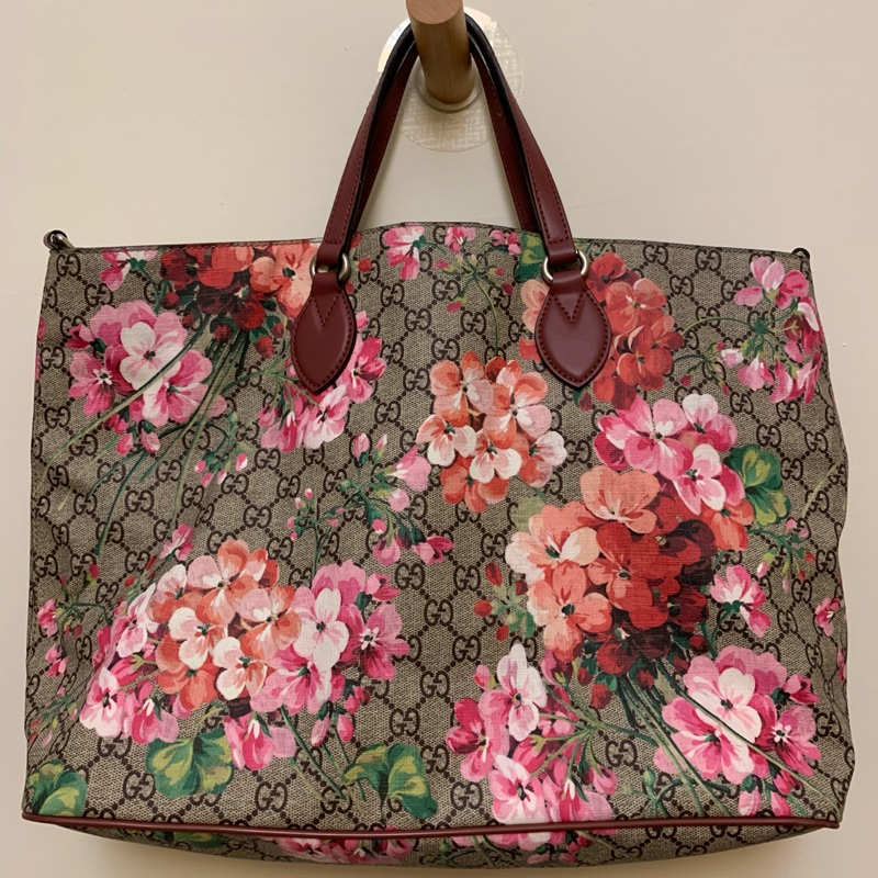 Gucci blooms gg supreme大購物包 八成新