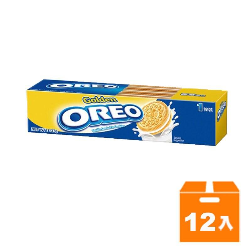 OREO奧利奧金奇夾心餅乾133g (12入)/箱【康鄰超市】