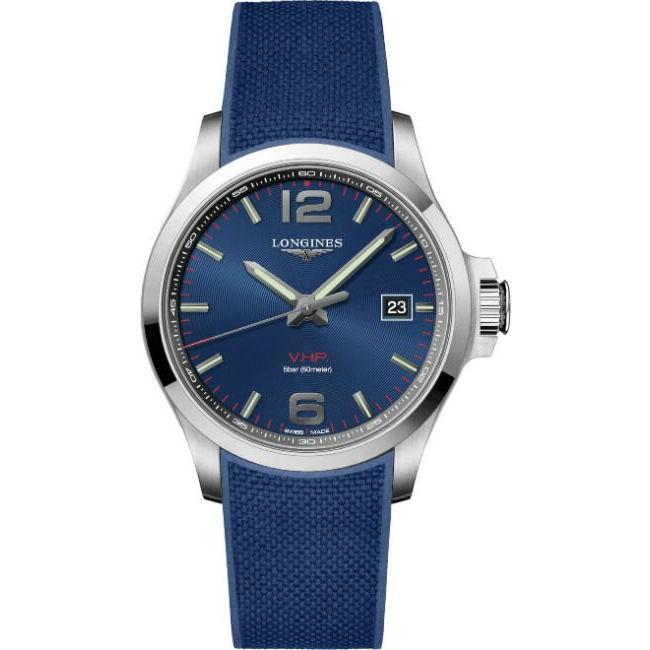 LONGINES 浪琴錶 L37264969 征服者系列 Conquest VHP 時尚腕錶/藍面 43mm