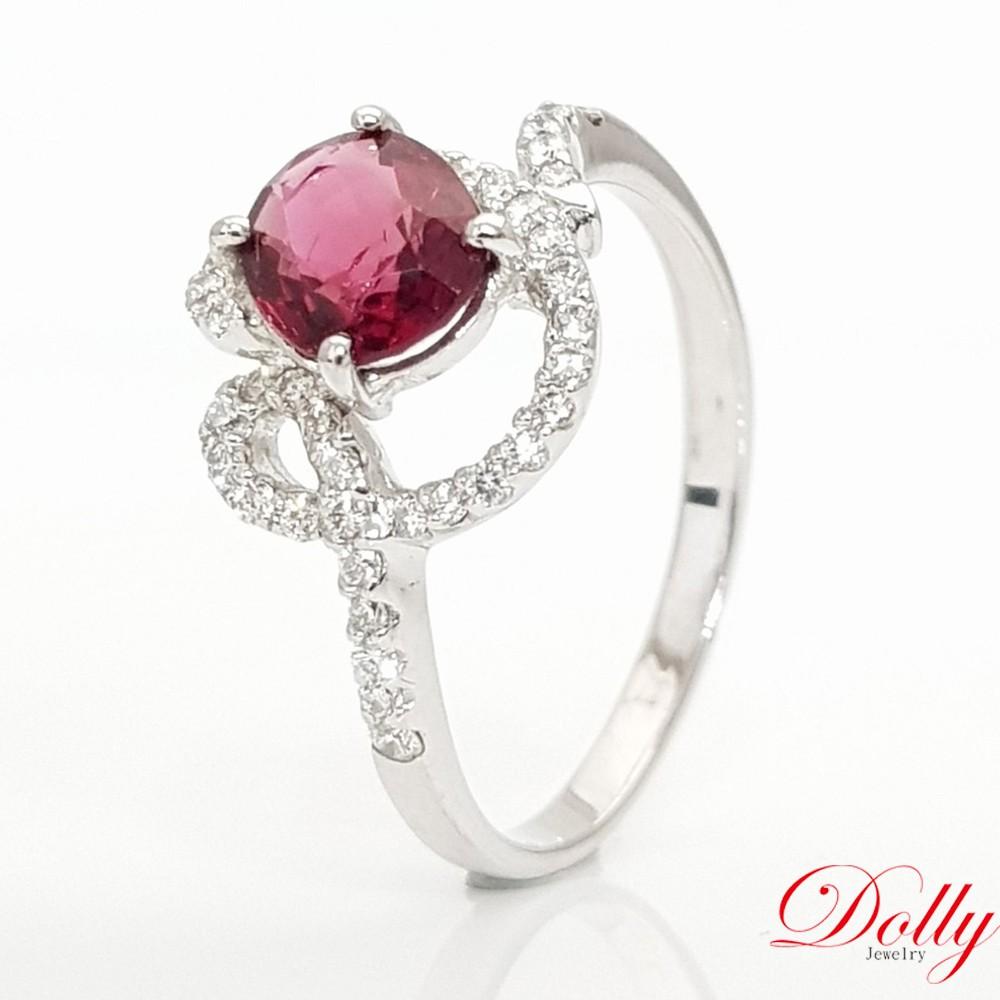 Dolly 無燒 尖晶石1克拉 14K金鑽石戒指