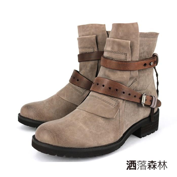 【短靴】率氣個性 3397533 - 灰色 / 原價6380元