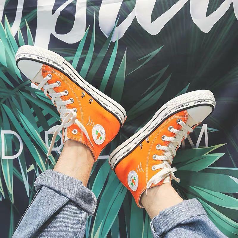 Converse匡威 1970S 葫蘆娃 橙色 刺綉 帆布鞋 休閑運動鞋 男鞋 女鞋 情侶鞋 休閒鞋 高筒 潮鞋 板鞋