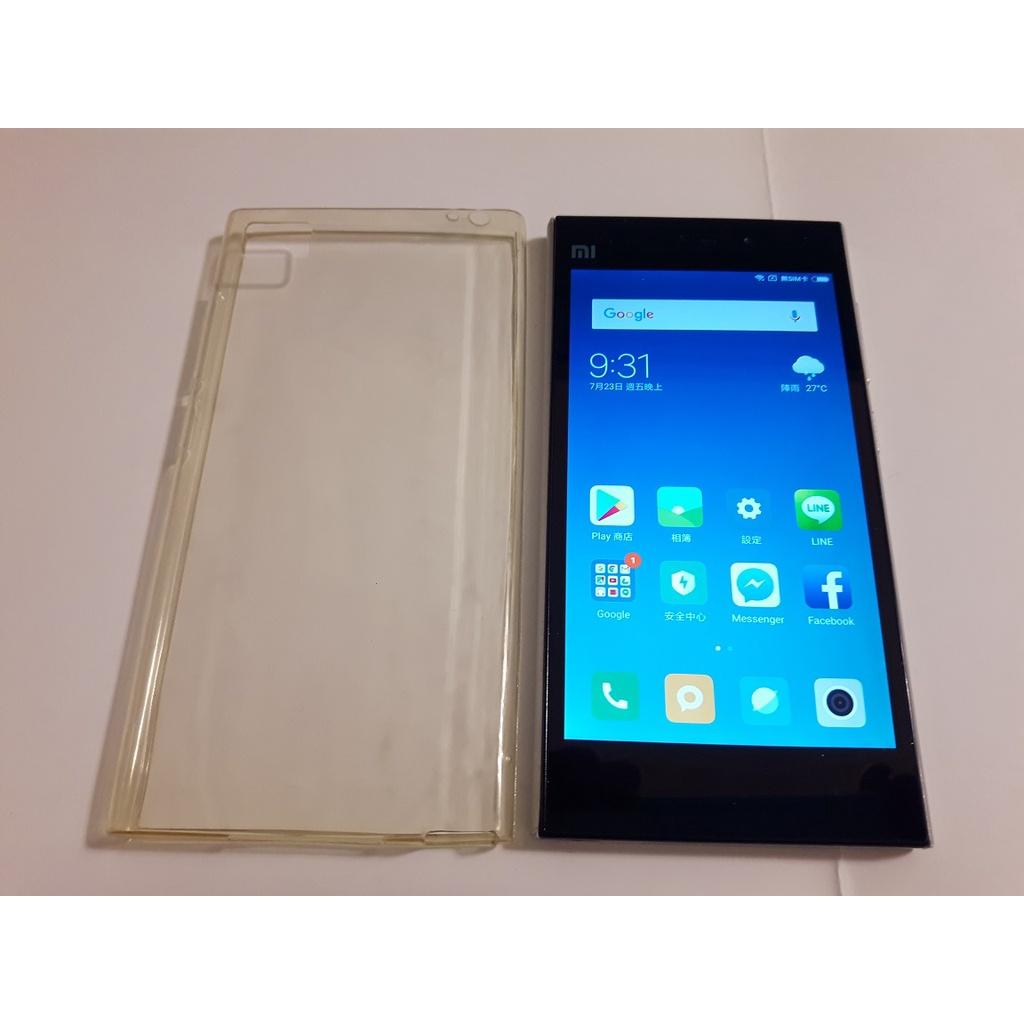 <二手手機讀不到sim卡其餘功能正常>小米3手機 MI3W 2013062 5吋 2G/16G 安卓6 只要700元