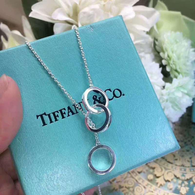 現貨Tiffany&Co.蒂芙尼 925純銀 三環項鏈 戒子項鏈