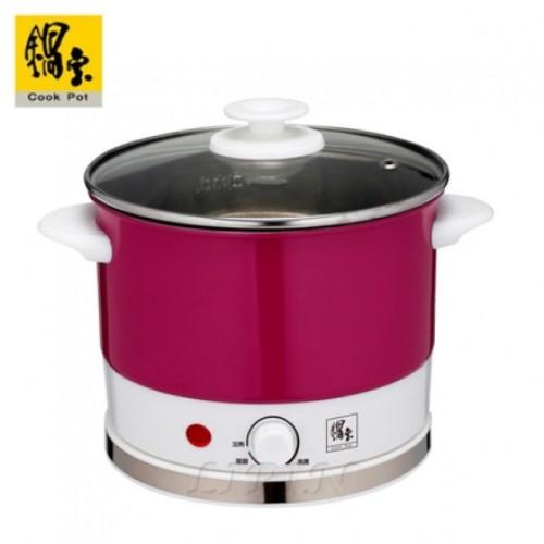 【鍋寶】2.2公升炫彩不鏽鋼多功能美食鍋/電火鍋,BF-150-D