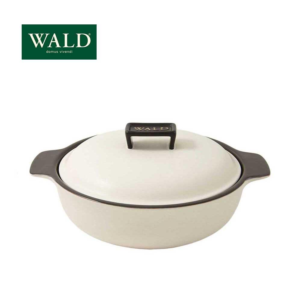 【WALD】陶鍋系列-28CM淺燉鍋(粉白)(附原廠彩盒)