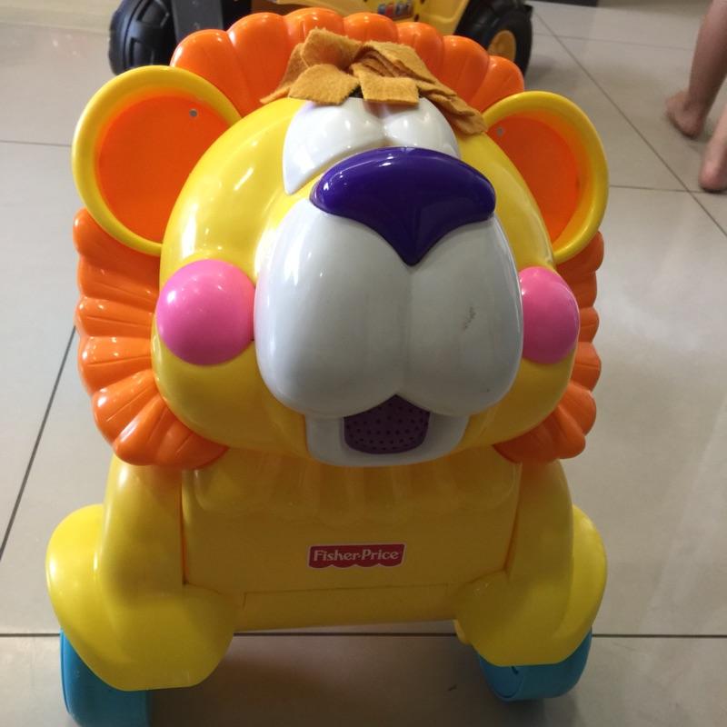 費雪小獅子聲光兩用學步車