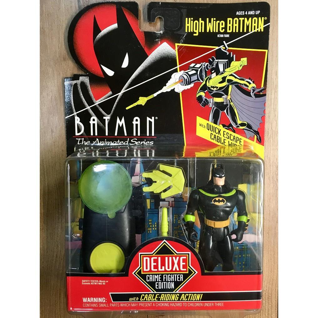 [蝙蝠俠011]Kenner 1993 蝙蝠俠 動畫系列 豪華版 High Wire Batman 5吋 吊卡