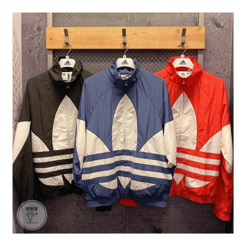 全新公司貨 Adidas Orignals 愛迪達 大Logo 黑 白 外套 FM9892