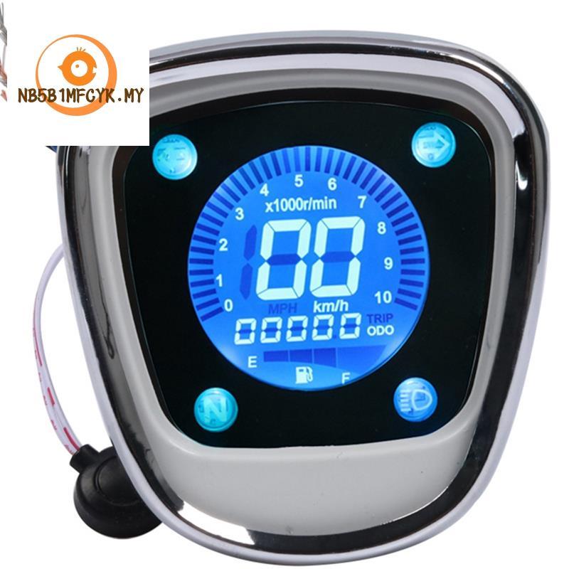 Motorcycle LCD Digital Odometer Speedometer Tachometer Assy