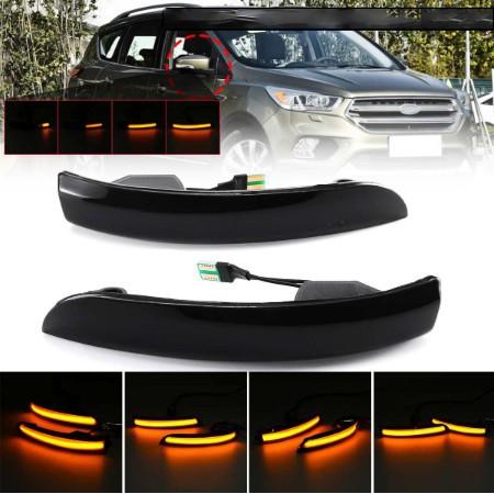 【車載精品】一對價 福特Ford Kuga專用轉向燈 流水燈 方向燈 跑馬燈 後視鏡方向燈 2013-2018