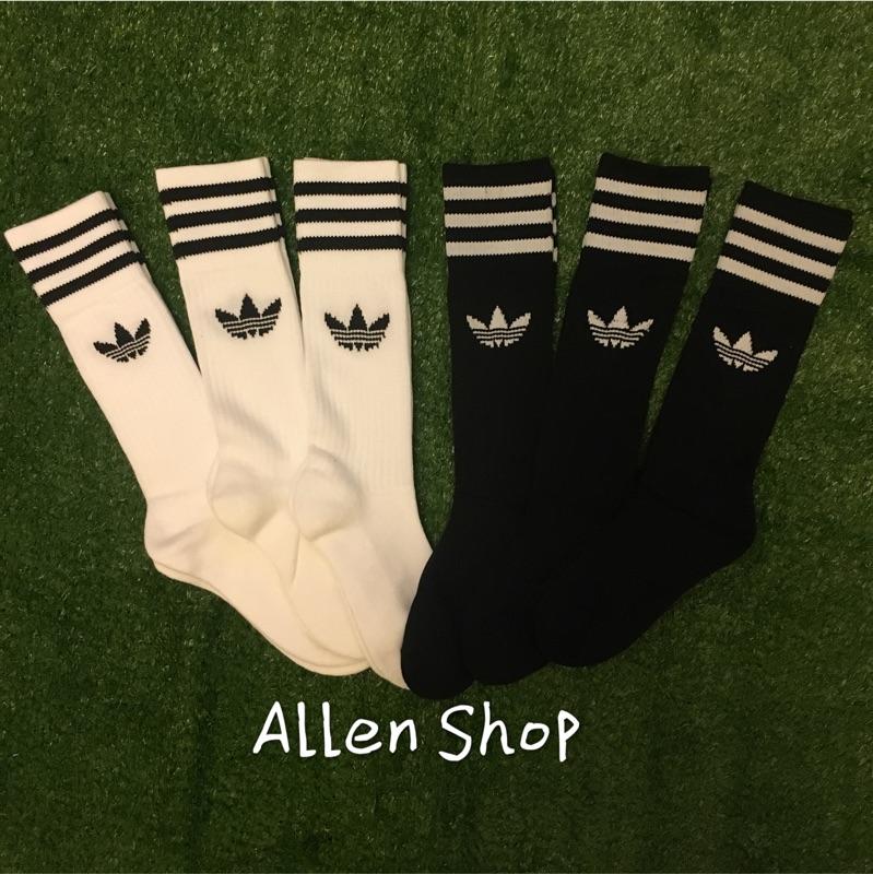 Adidas Originals Crew Sock 長襪 襪子 三葉草 黑白 黑S21490 白S21489