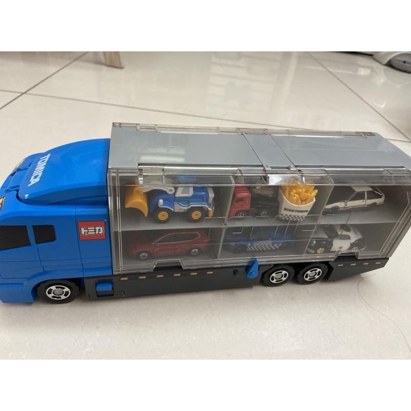 Tomica收納卡車+12台小車,二手打包出售