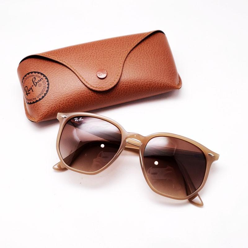 😄 熱銷新款 😄[檸檬眼鏡] RayBan RB4306F 6166 13 透光奶茶灰膠框 茶色漸層鏡片 原廠正品貨