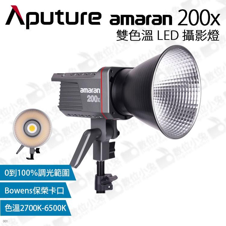 數位小兔【Aputure Amaran 200x 愛圖仕 雙色溫 LED燈】持續燈 艾蒙拉 攝影燈 補光燈 保榮卡口