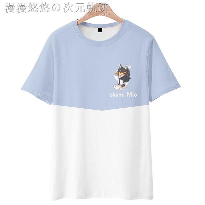 ☬๑虛擬主播vtuber大神澪周邊日系T恤男動漫二次短袖體恤痛衣服夏