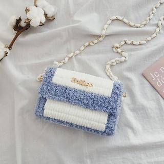 抖音網紅自編送女友手工編織包包diy材料包手織冰條線毛線自制包、