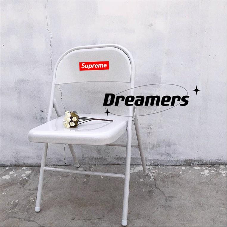 supreme金屬椅子凳子折疊椅可收納成人餐椅電腦椅麻將椅家用