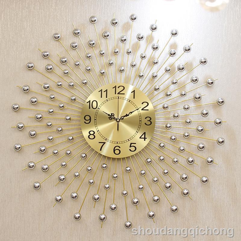 現貨爆款~ 鐘表掛鐘創意客廳時尚家用掛鐘現代簡約大氣個性時鐘北歐個性鐘表