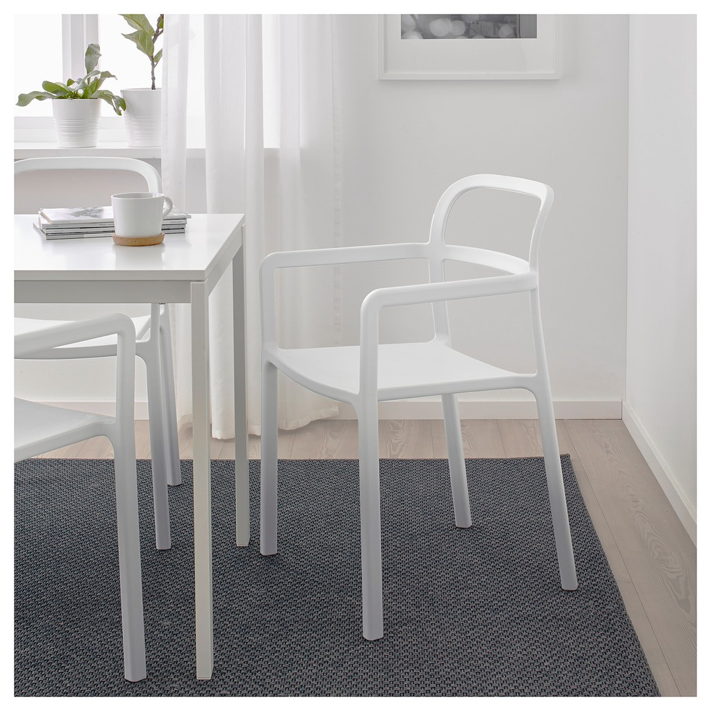 北歐工業LOFT風格經典IKEA宜家YPPERLIG扶手椅餐椅工作椅休閒椅/淺灰色/二手九成新/原$1890特$1200