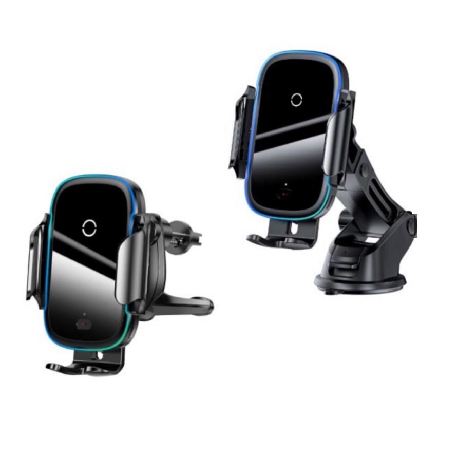 倍思 City Lights 光線電動支架無線充 車用支架 無線充電 15W 黑 Baseus